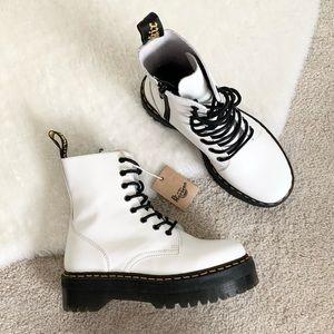 Dr. Martens Jadon White Platform Boots